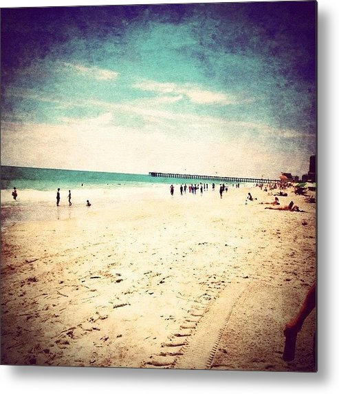 Blue Metal Print featuring the photograph #pretty #prettycolors #summer by Katie Williams