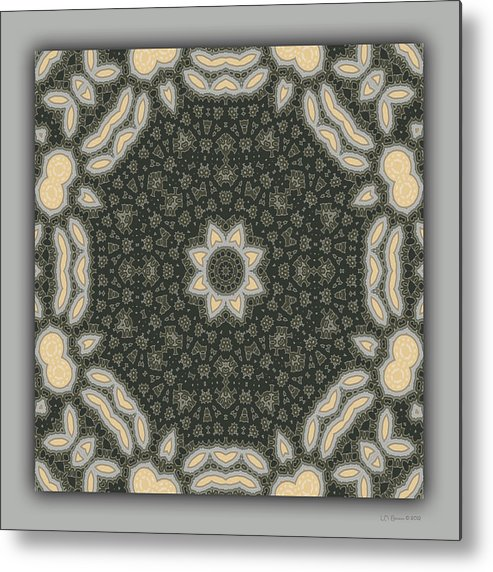 Kaleidoscope Metal Print featuring the digital art Sand and Shadows 3 by Lynn Evenson