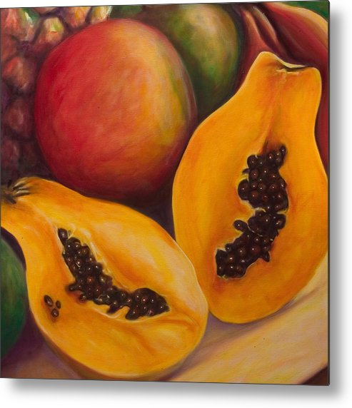Twins Metal Print featuring the painting Twins Crop by Shannon Grissom