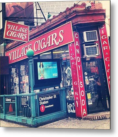 Summer Metal Print featuring the photograph Village Cigars by Randy Lemoine