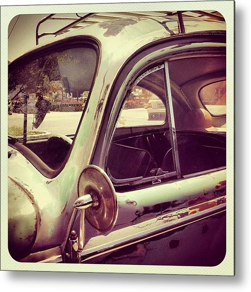 Volkswagon Metal Print featuring the photograph Vintage VW by Gwyn Newcombe