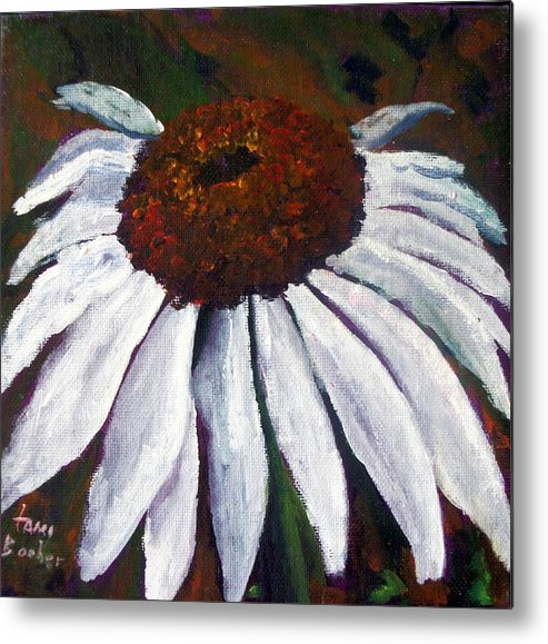 Cone Flower Metal Print featuring the painting White Cone by Tami Booher