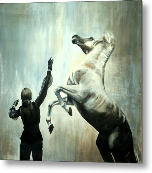 Horses Metal Print featuring the painting Amazing Grace by Fiona Jack