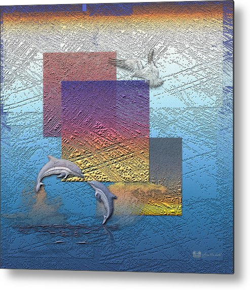�from Dusk Till Dawn� Collection By Serge Averbukh Metal Print featuring the photograph Blue Lagoon Sunrise by Serge Averbukh