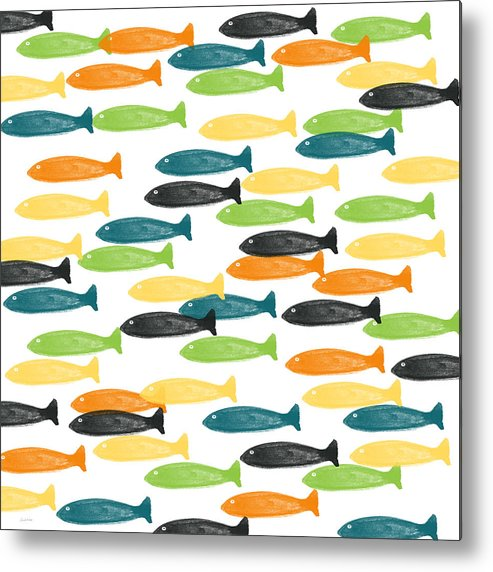 Fish Metal Print featuring the painting Colorful Fish by Linda Woods