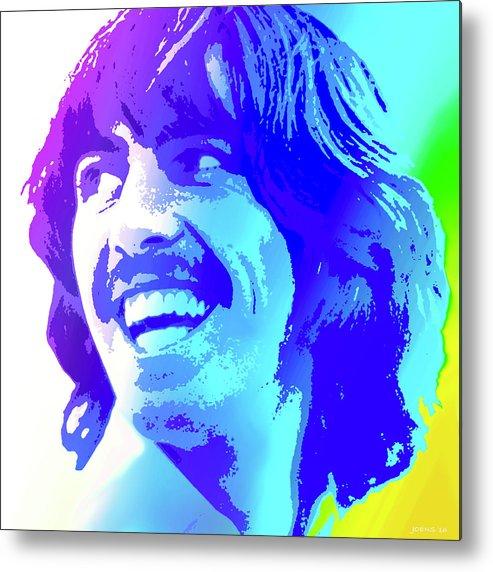 George Harrison Metal Print featuring the digital art George Harrison by Greg Joens