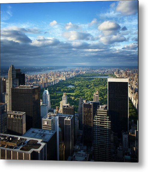 Ny Metal Print featuring the photograph NYC Central Park by Nina Papiorek