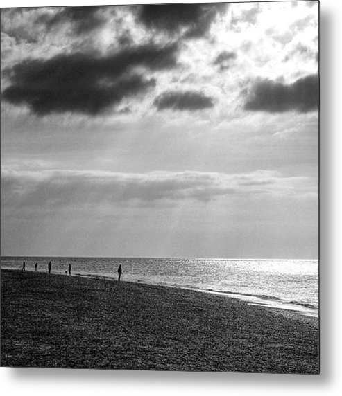 Landscapelovers Metal Print featuring the photograph Old Hunstanton Beach, Norfolk by John Edwards