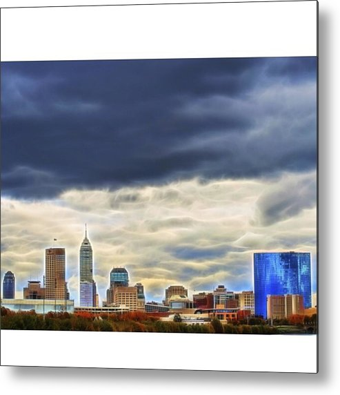 Naptown Metal Print featuring the photograph #travel #usa #midwest #indiana by David Haskett II