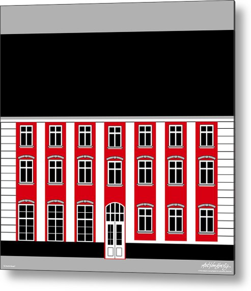 22 North Street Metal Print featuring the painting 22 North Street by Asbjorn Lonvig
