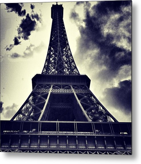 Instaaddict Metal Print featuring the photograph #paris by Ritchie Garrod