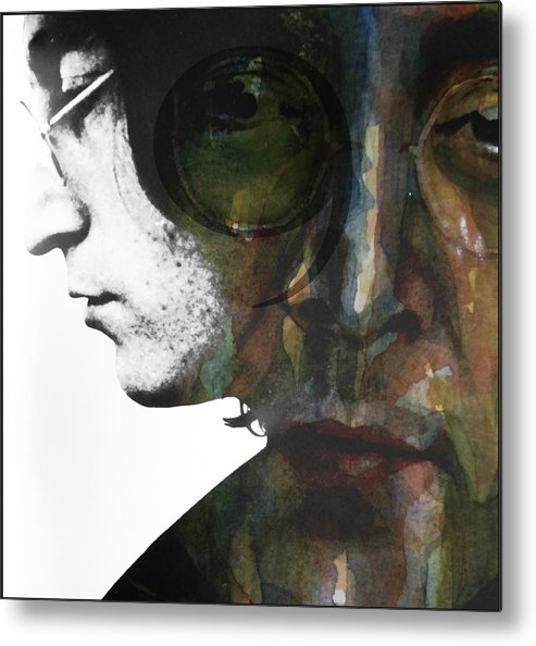 John Lennon Metal Print featuring the mixed media #9 Dream by Paul Lovering
