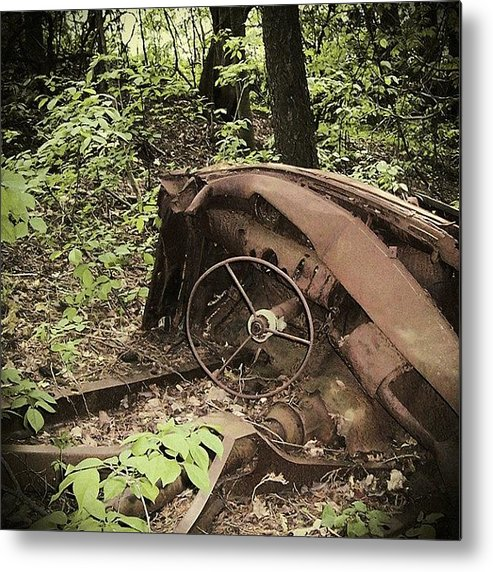 Urban Decay Collection By Serge Averbukh Metal Print featuring the photograph Abandoned 50s Classic.... by Serge Averbukh