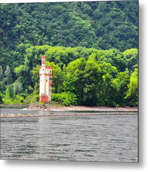Medieval Building Metal Print featuring the photograph A Medieval Castle on the Rhine by Kirsten Giving