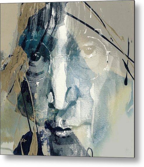 John Lennon Metal Print featuring the mixed media Above Us Only Sky by Paul Lovering