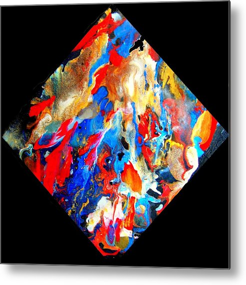 Abstract Metal Print featuring the painting Abstract - Evolution Series 1001 by Dina Sierra