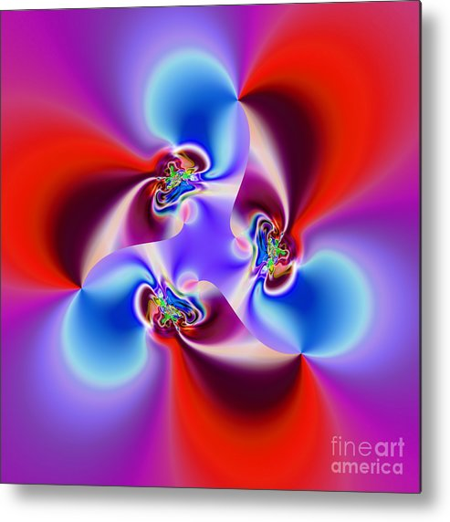 Abstract Metal Print featuring the digital art Abstract 231 by Rolf Bertram