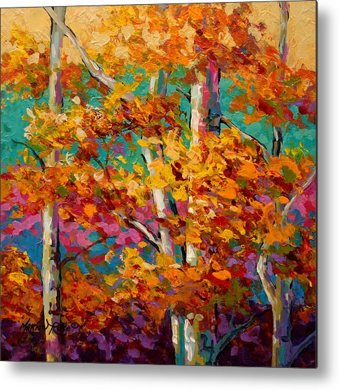 Trees Metal Print featuring the painting Abstract Autumn III by Marion Rose