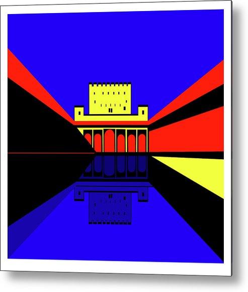 Alhambra Granada Metal Print featuring the digital art Alhambra Granada by Asbjorn Lonvig