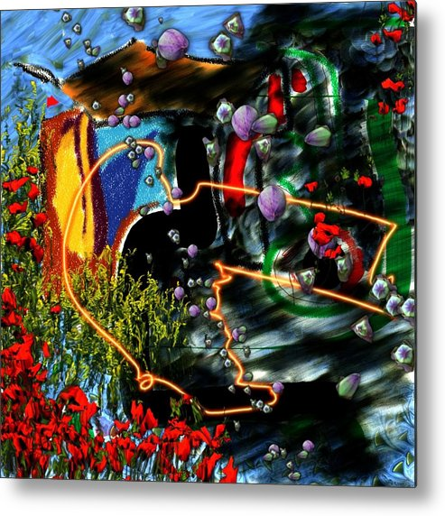 Ocean Water Deep Sea Nature Salad Metal Print featuring the digital art Aquatic salad by Veronica Jackson