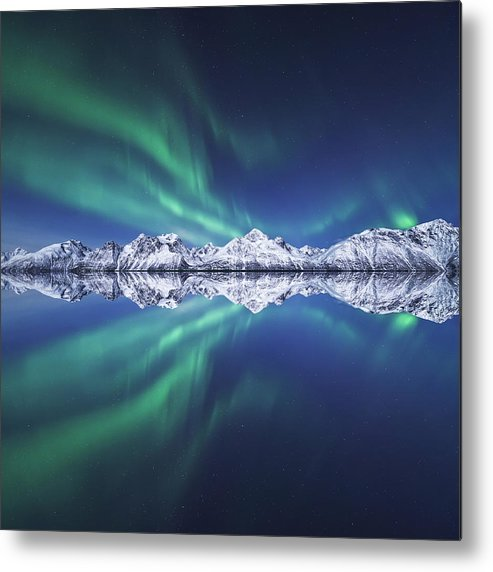 Aurora Borealis Metal Print featuring the photograph Aurora Square by Tor-Ivar Naess