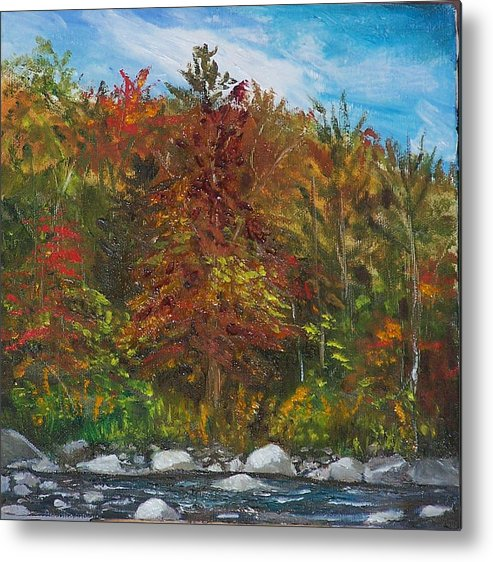 Autumn Metal Print featuring the painting Autumn Colors by Pamela Wilson