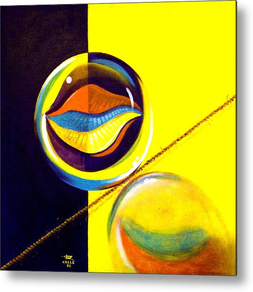Surrealism Metal Print featuring the painting Balancing Act I by Roger Calle