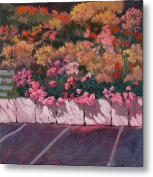 Flowers Metal Print featuring the painting Bayside Flowers by Robert Bissett