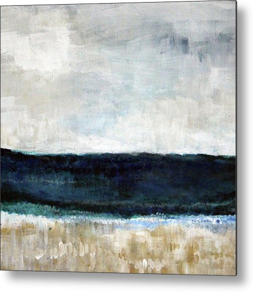Beach Metal Print featuring the painting Beach- abstract painting by Linda Woods