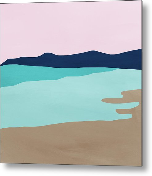 Beach Metal Print featuring the mixed media Beach Cove- Art by Linda Woods by Linda Woods