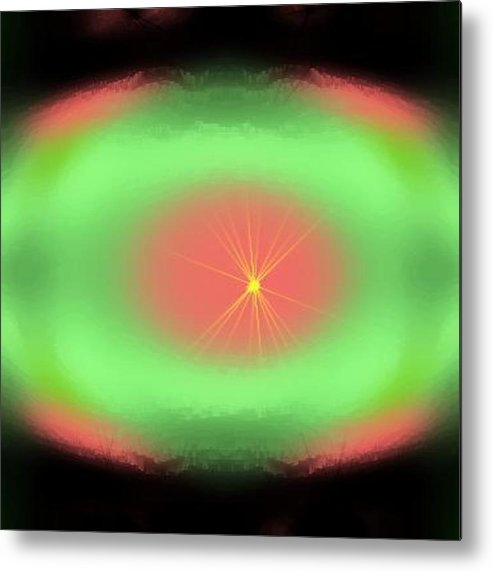 Beginning.darkness.nothing.the Big Explosion.force.energy.birth.the Generation In All. Creation.   Metal Print featuring the digital art Beginning... by Dr Loifer Vladimir