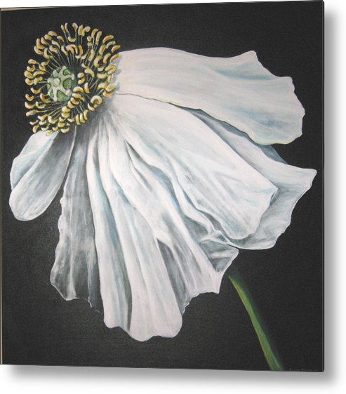 Poppy Metal Print featuring the painting Blown in the Wind by Eileen Kasprick