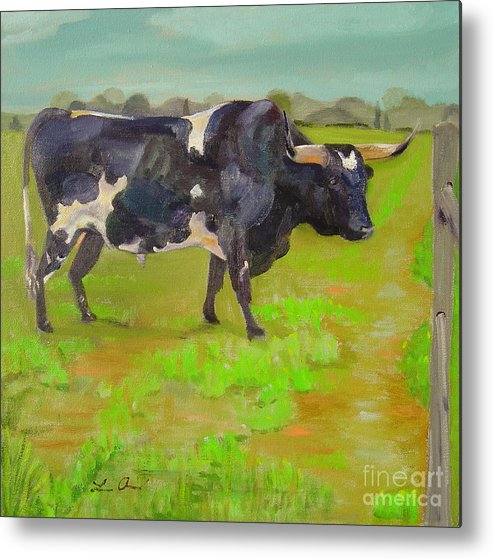 Southwest Metal Print featuring the painting Bold Beauty by Lilibeth Andre