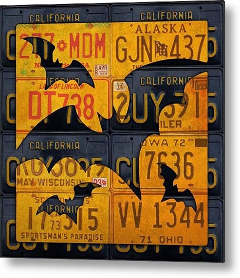 Prints Metal Print featuring the photograph #boo  @fineartamerica #licenseplates by Design Turnpike