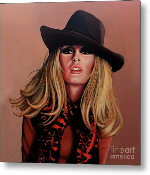 Brigitte Bardot Metal Print featuring the painting Brigitte Bardot Painting 1 by Paul Meijering