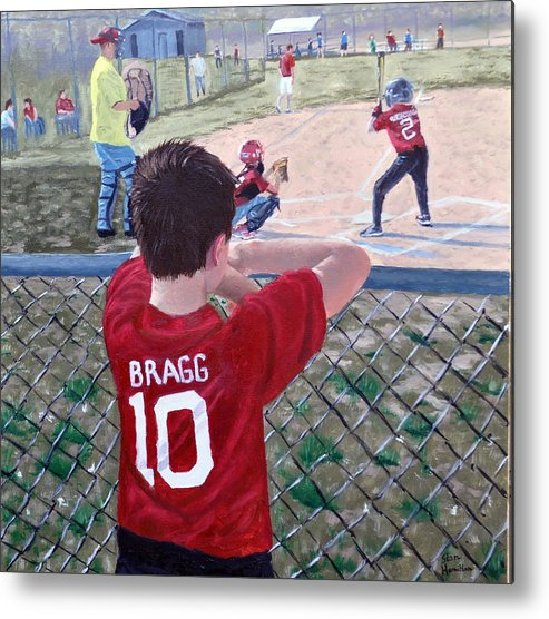 Child Metal Print featuring the painting Brock by Stan Hamilton
