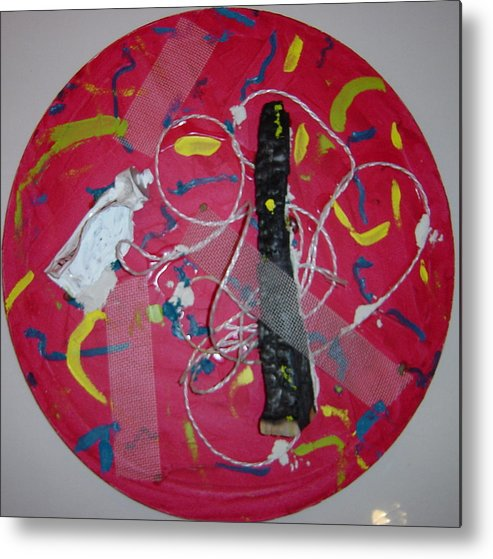 Metal Print featuring the painting Burnt and tube by Biagio Civale