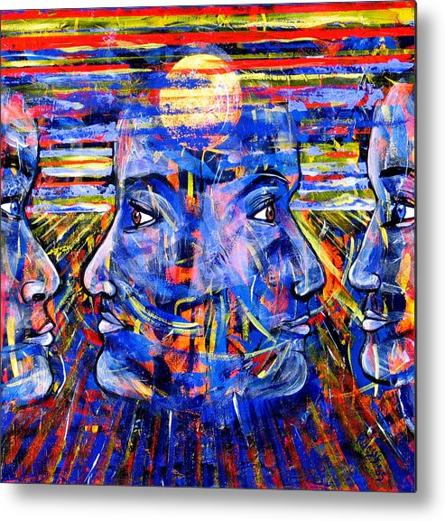 Confrontation Metal Print featuring the painting Can Not Live A Lie by Rollin Kocsis