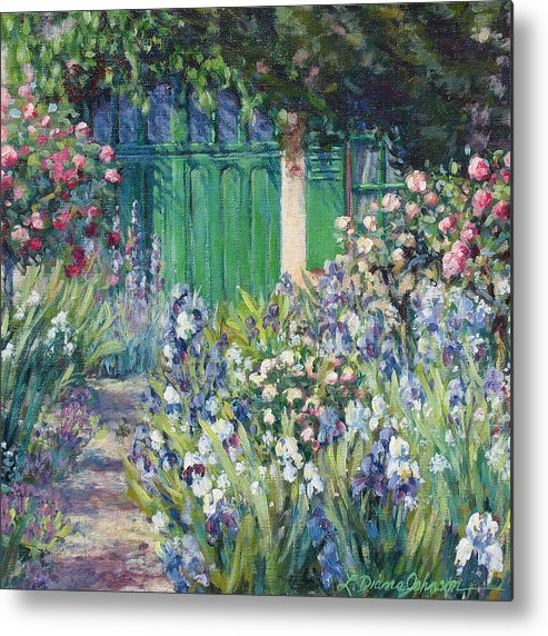 Monet Metal Print featuring the painting Charmed Entry - Monet by L Diane Johnson