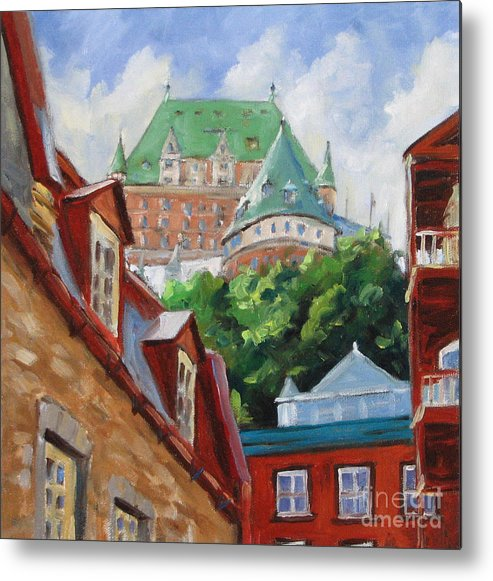 Chateau Frontenac Metal Print featuring the painting Chateau Frontenac by Richard T Pranke