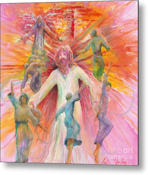 Jesus Metal Print featuring the painting Dance of Freedom by Nadine Rippelmeyer