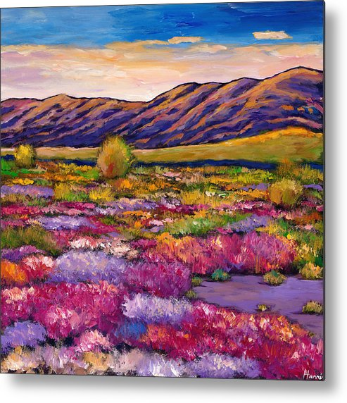 Arizona Metal Print featuring the painting Desert in Bloom by Johnathan Harris