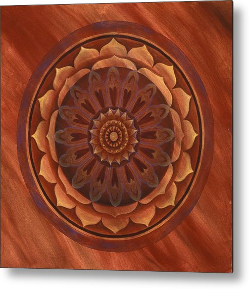 Mandala Metal Print featuring the painting Desert Wind by Charlotte Backman