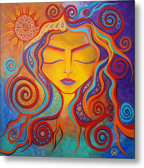 Abstract Metal Print featuring the painting Divine Transcendence by Michelle Oravitz