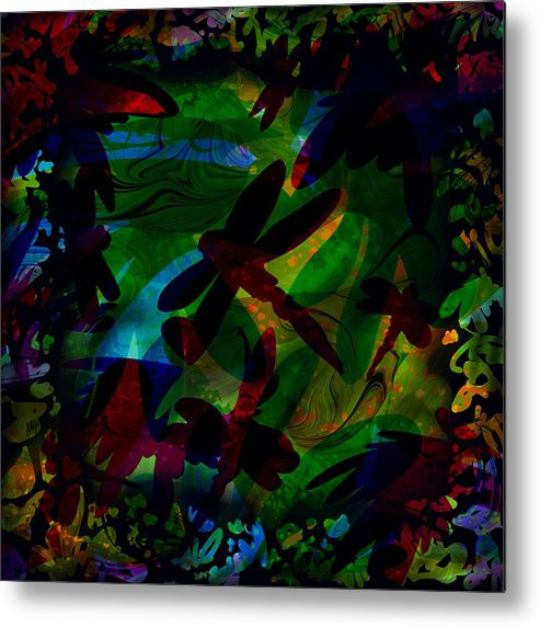 Abstract Metal Print featuring the digital art Dragonfly by William Russell Nowicki
