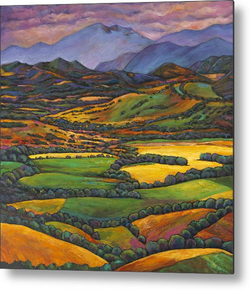 European Landscape Metal Print featuring the painting Draped in a Dream by Johnathan Harris