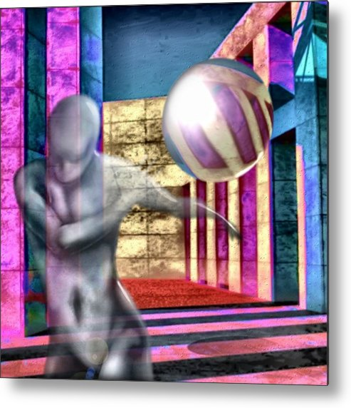 Playground Game Ball Colors Metal Print featuring the digital art Dream Play by Veronica Jackson