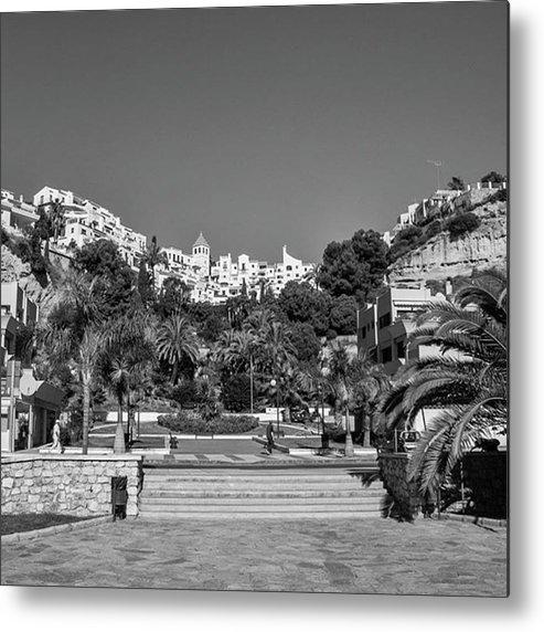 Mediterranean Metal Print featuring the photograph El Capistrano, Nerja by John Edwards