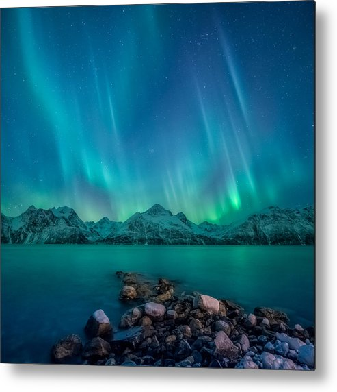 Emerald Metal Print featuring the photograph Emerald Sky by Tor-Ivar Naess