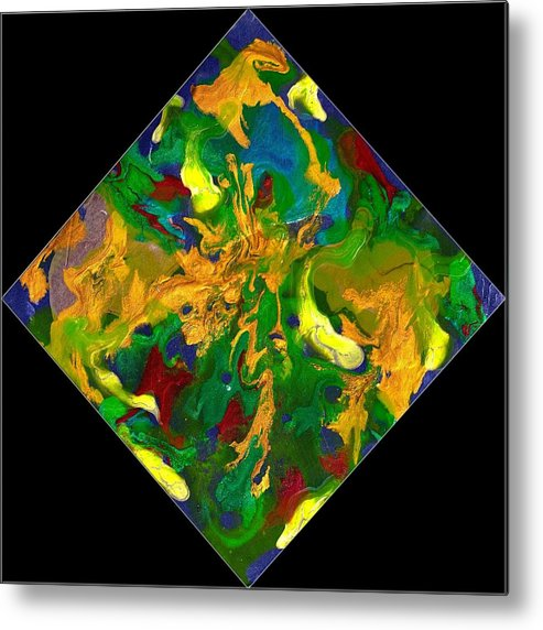 Abstract Metal Print featuring the painting Evolution Series 1008 by Dina Sierra